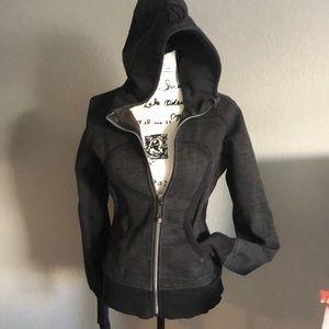 Lululemon Scuba charcoal zip up hoodie 8